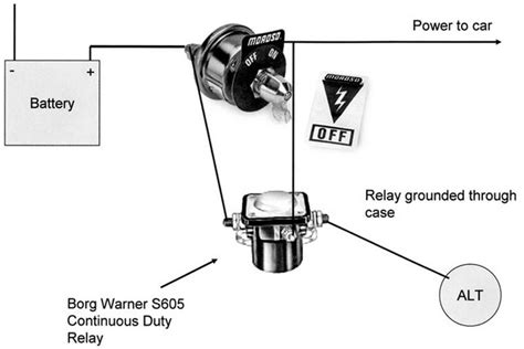 trunk mount battery kill switch diagram for a bodies