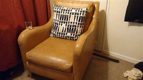 Next Light Tan Brown Leather Armchair