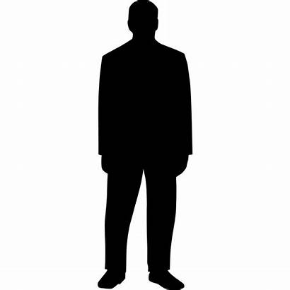 Silhouette Person Clipart Clip Standing Drawing Vector