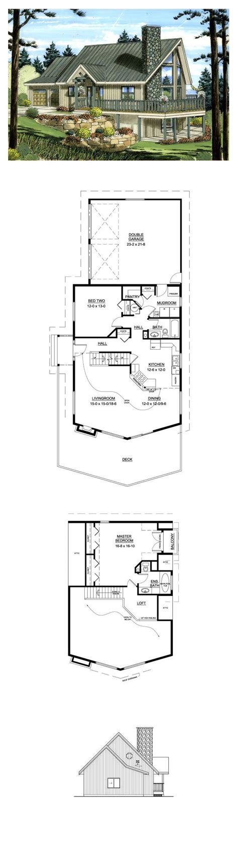 Lakefront Style COOL House Plan ID: chp 49916 Total