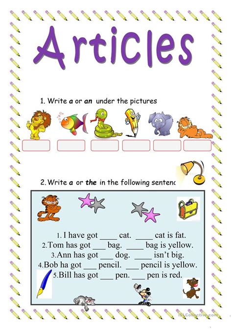 articles worksheet free esl printable worksheets made by