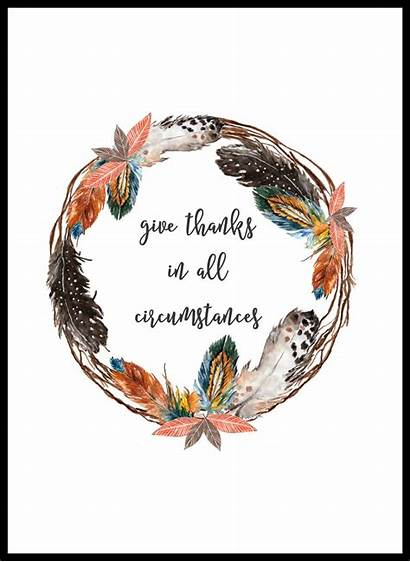 Thanks Give Printable Wreath Thanksgiving Feather Printables