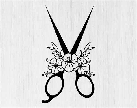 floral scissors svg floral scissors dxf floral scissors png etsy   craft logo paper