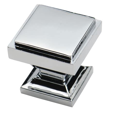 square kitchen cabinet knobs southern hills polished chrome square cabinet knobs pack