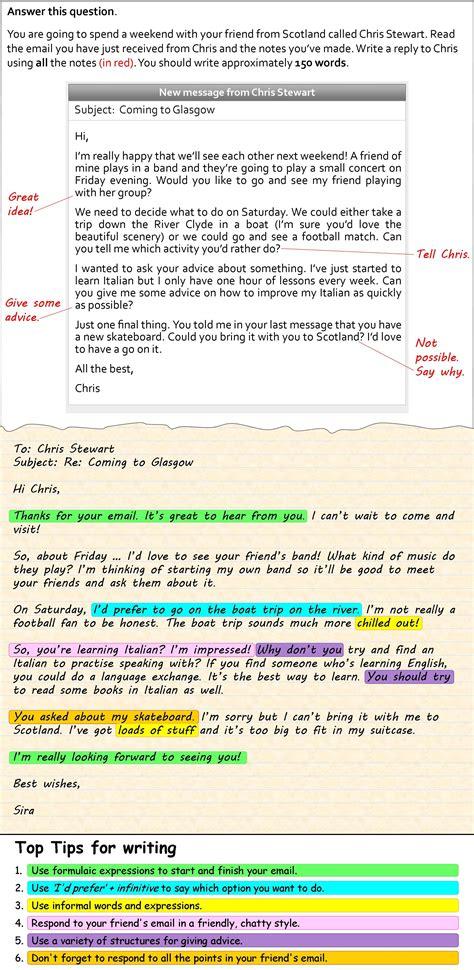 write  informal email esl writing schreiben