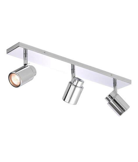 polished chrome triple spot light bar ip bathroom