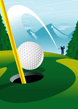 golf   hole vector graphic graphic hive