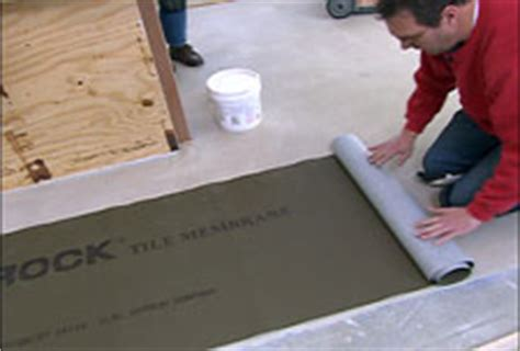 isolation membrane hometime how to ceramic tile underlayment prep