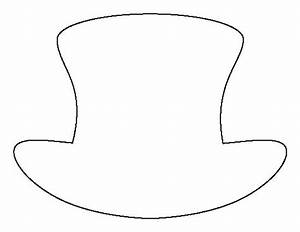 Top hat pattern. Use the printable outline for crafts ...