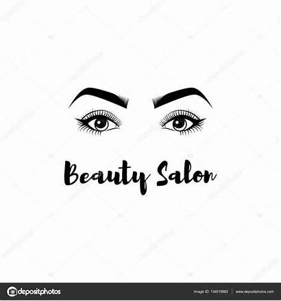 Beauty Salon Vector Makeup Eyes Illustration Badge