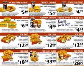 kfc menu item coupon sles 2