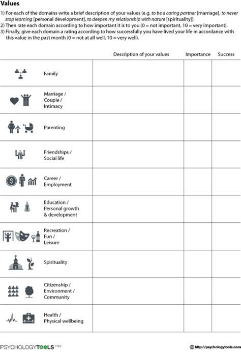 act values worksheet worksheets for school leafsea