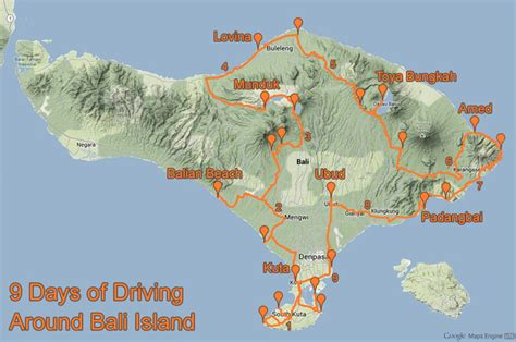 map singaraja bali fresh bali travel map peruantitaurinoorg