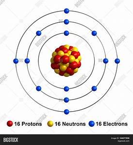 3d Render Atom Structure Sulfur Image  U0026 Photo