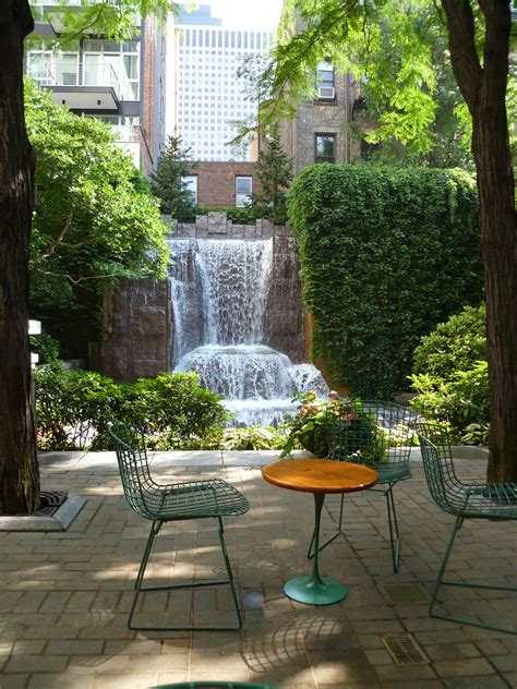 table chairs greenacre park nyc  project
