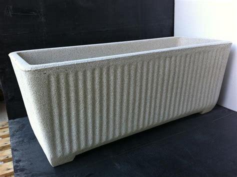vasi in cemento da giardino vaso fioriera rettangolare in cemento torino 100x50 h50