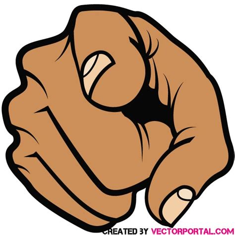 pointing finger clipart pointing finger vector illustration by vectorportal on
