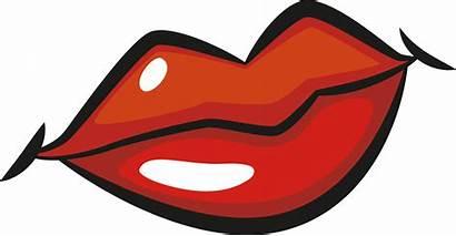 Lips Lip Clipart Drawing Cartoon Clip Kissing