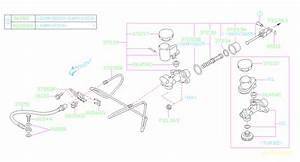 Subaru Wrx Clutch Master Cylinder  Pedal  System