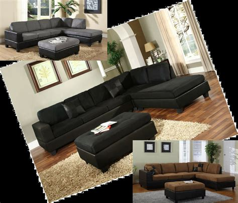 Black Microfiber Sofa And Loveseat by Microfiber Sectionals Black Grey Sofa Sectional 4