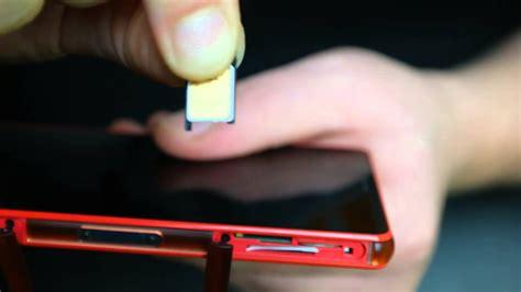 sony xperia  compact sim und speicherkarte einlegen