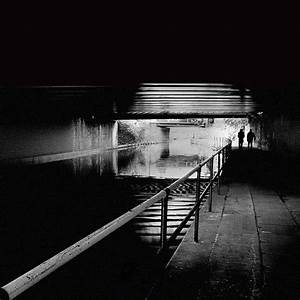 Free Images : path, light, black and white, night ...
