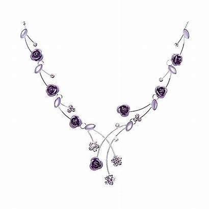 Elegant Crystal Necklace Glamorousky Rose Crystals Element