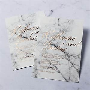 marble and custom foil i wedding stationery design With minimalist wedding invitations uk