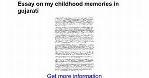 my childhood memories essay writing