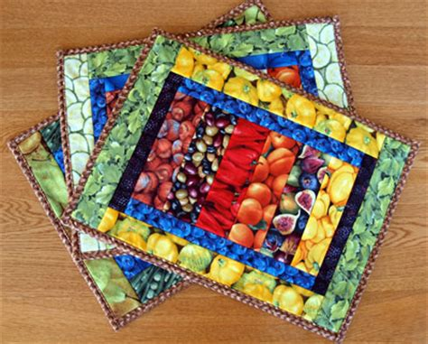 quilted placemat patterns 9 vegetable arts and crafts projects healthy info