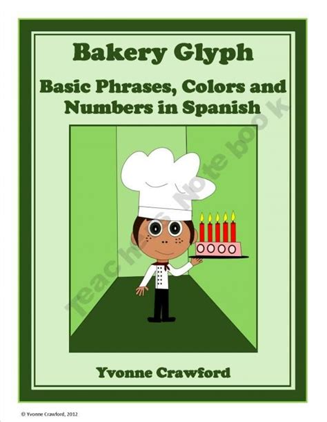 Bakery Glyph will help you to reinforce colors, numbers ...