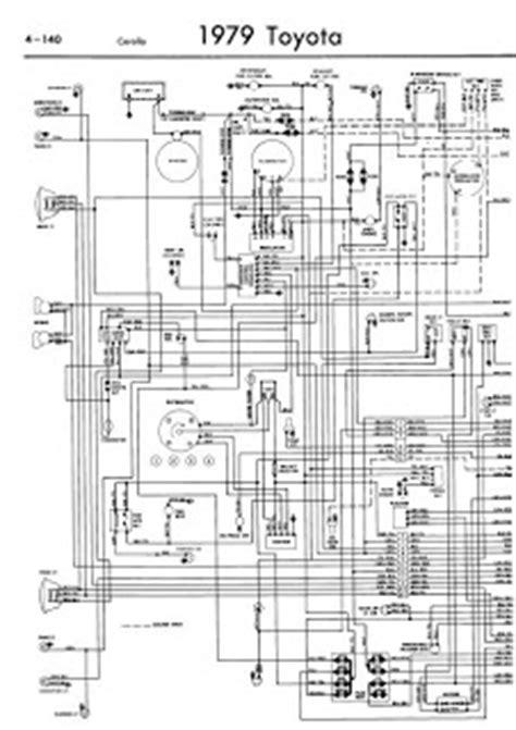 toyota corolla 1979 wiring diagrams manual