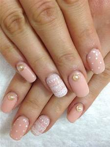 Simple Pink Wedding Nail Art Designs & Ideas 2014 ...