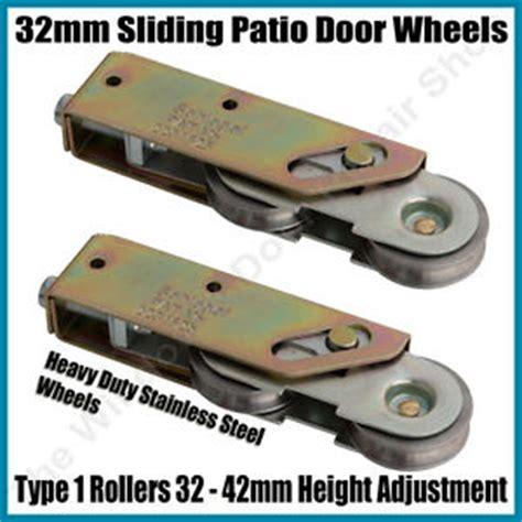 pair schlegel tandem sliding patio door roller wheels