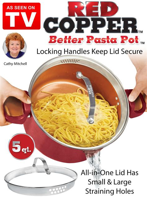 red copper  pasta pot carolwrightgiftscom