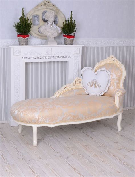 shabby chic chaise vintage sofa rococo recamiere chaise longue shabby chic lounger baroque ebay