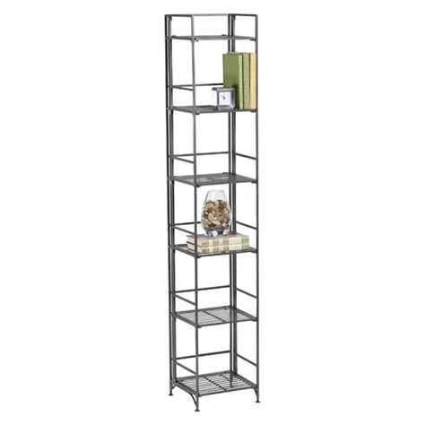 6 shelf iron folding tower the container store