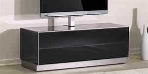 Meuble Avec Support Tv : de conti meglio duo 2 noir avec potence easylounge ~ Dailycaller-alerts.com Idées de Décoration