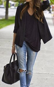 Black Blazer with Jeans
