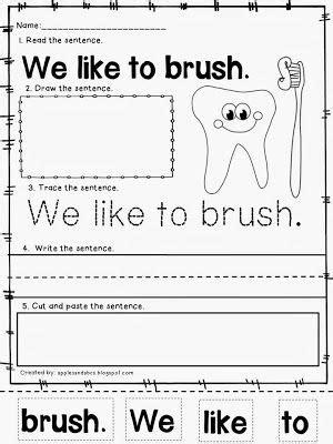 Winter Sentences | Dental health month, Dental health