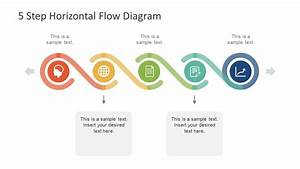 5 Step Horizontal Flow Diagram For Powerpoint