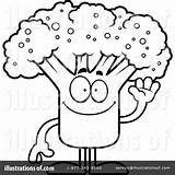 Broccoli Coloring Clipart Illustration Cory Thoman Royalty Rf Webstockreview sketch template