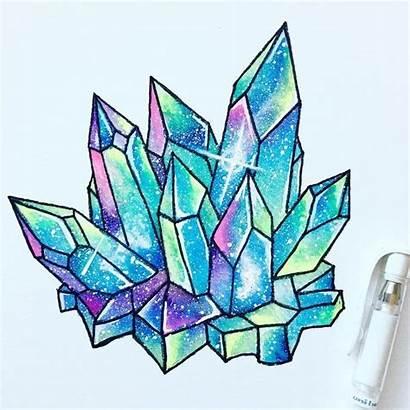Drawing Galaxy Painting Crystal Drawings Watercolor Tattoo