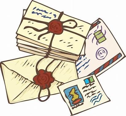 Letters Postcards Mail Illustration Stack Postal Vector
