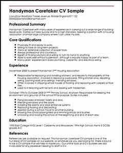 handyman caretaker cv sample myperfectcv With handyman resume sample