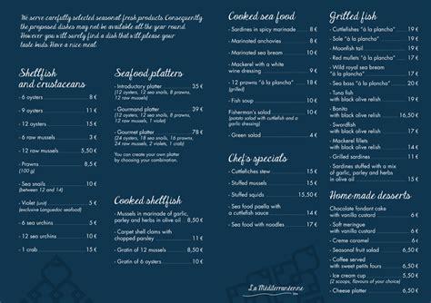 Menu Carte Restaurant Anglais by Restaurant La M 233 Diterran 233 Enne Carte Du Restaurant La