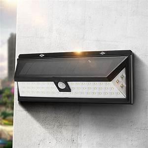 solar power 6w pir motion sensor 54 led solar light With outdoor solar lights big w