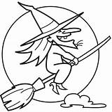 Witch Printable Coloring Colour sketch template
