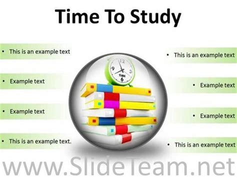 time study time to study education powerpoint presentation slides c powerpoint diagram