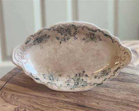 ironstone   etsy shop antique tea stained ironstone antique tea tea stains teal accents